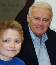 Gene McNary with young student